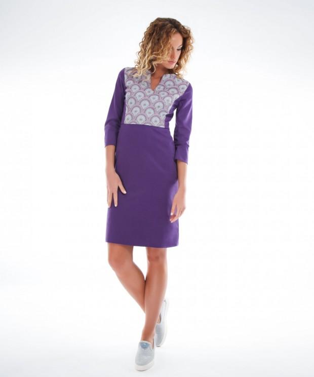 rochie office violet