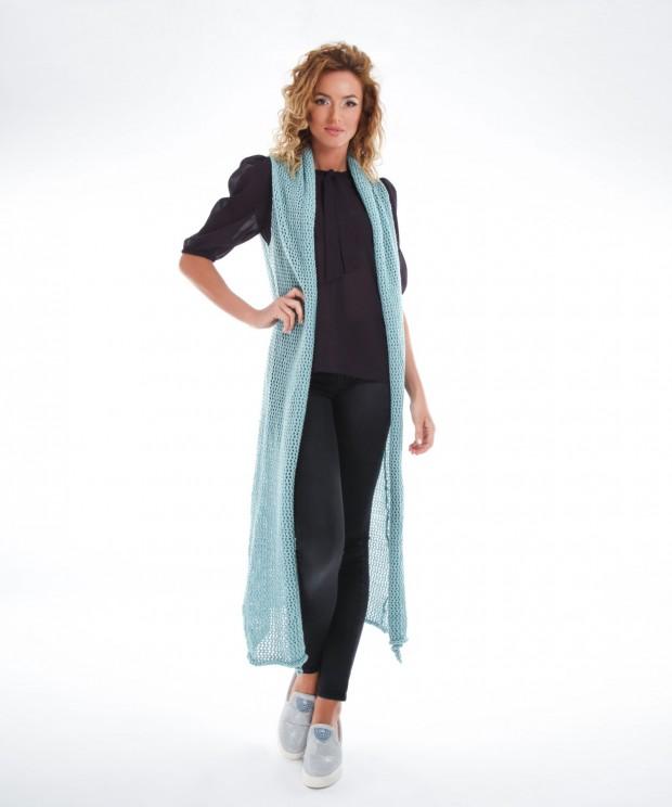 vesta tricotata lunga