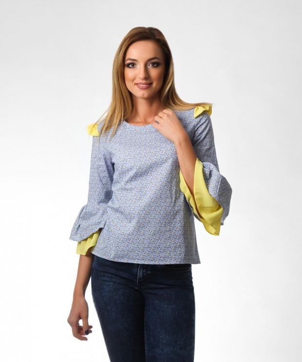 bluza bumbac imprimat