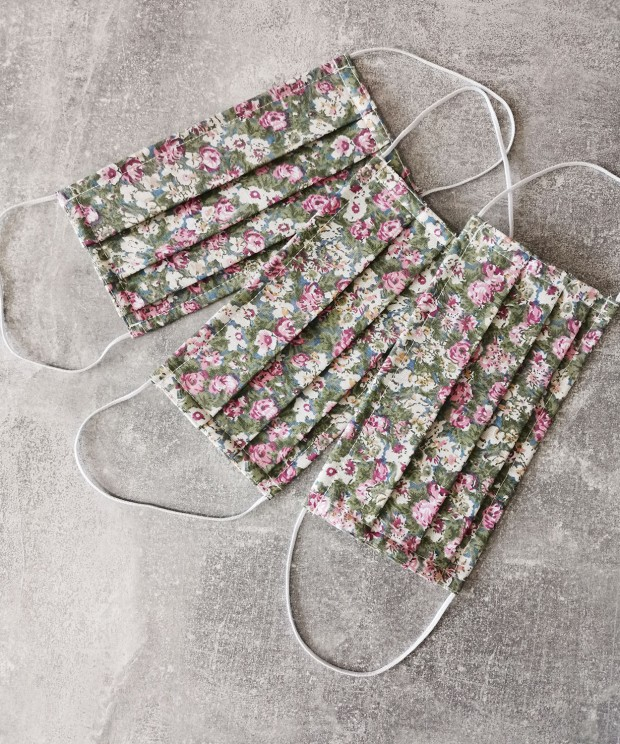 masca textila cu flori