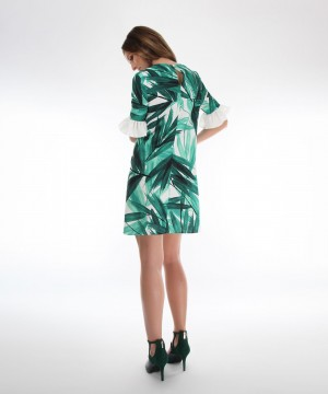 rochie tropical green