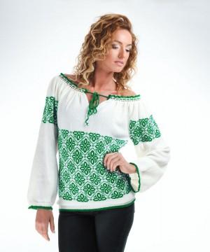 ie tricotata cu model verde smarald