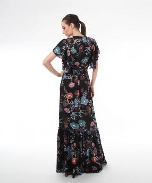 rochie boho cu imprimeu floral