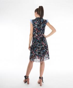 rochie cu imprimeu multicolor