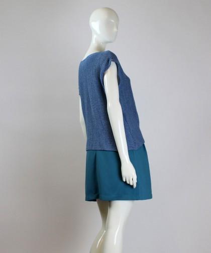 bluza tricotata blue folds