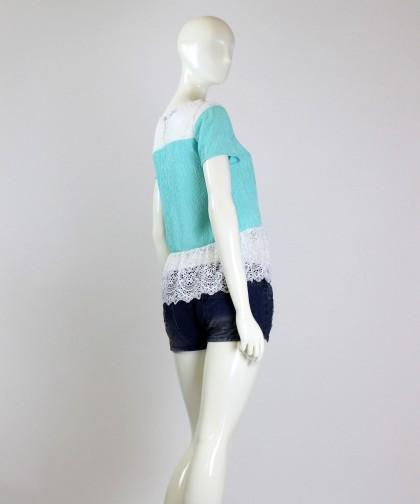 bluza soft turquoise
