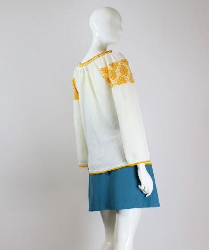 ie tricotata cu model galben 02