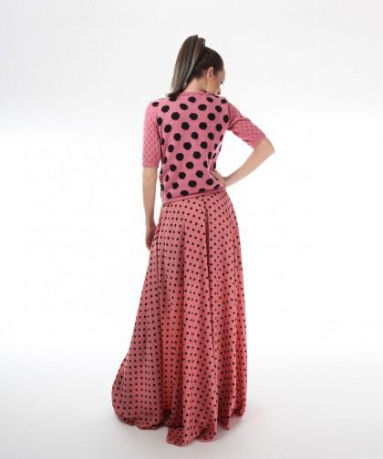 bluza tricotata polka dots