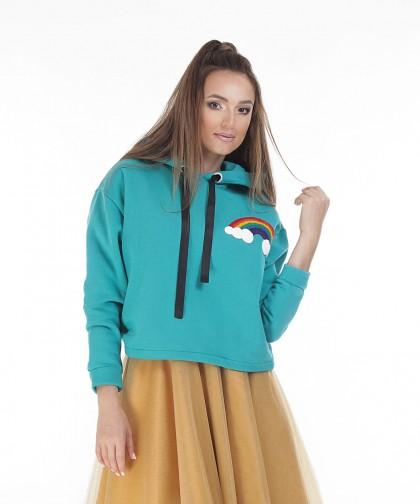 hoodie cu curcubeu