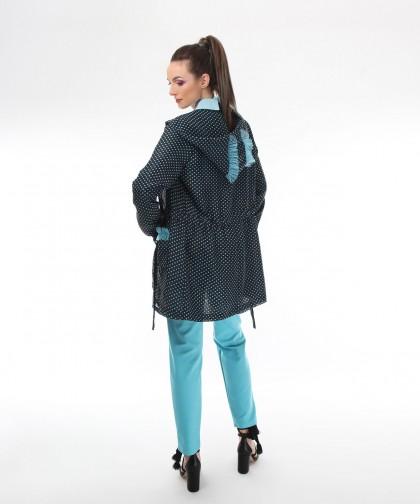 jacheta din voal cu buline