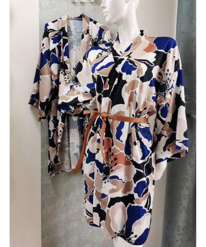 kimono cu imprimeu floral