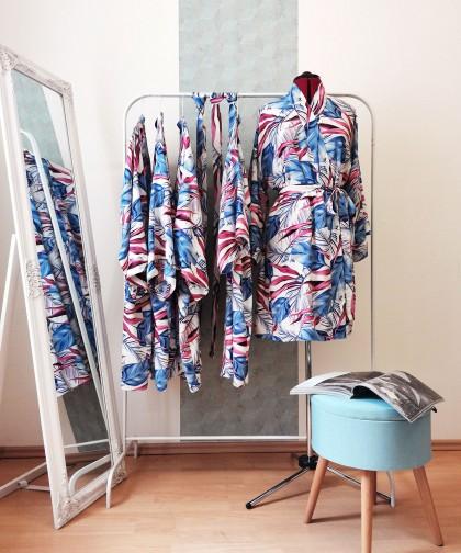 kimono cu imprimeu tropical