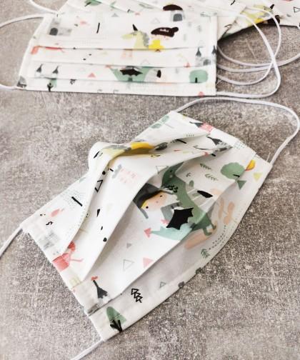 masca textila copii cu printi si printese