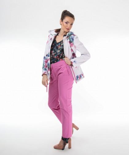 pantaloni din bumbac roz