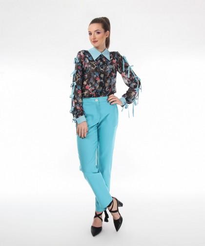pantaloni turcoaz