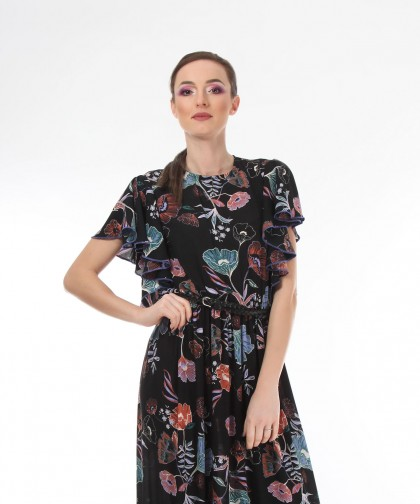 rochie cu imprimeu floral