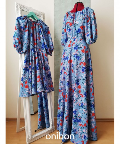 rochie maxi Boho Poppies