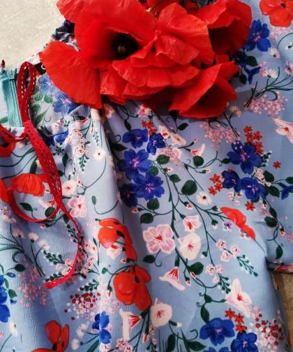 rochie mini Boho Poppies
