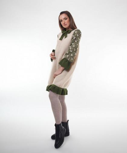 rochie trapez tricotata
