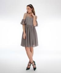 rochie din voal gri
