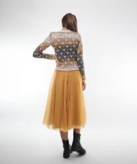 pulover cu model frunze