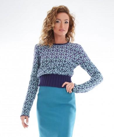 bluza tricotata cu spatele gol
