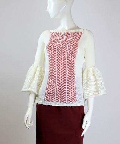 bluza spic de grau roz