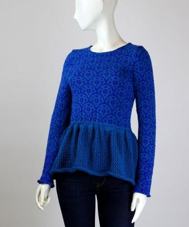 bluza tricotata cu peplum