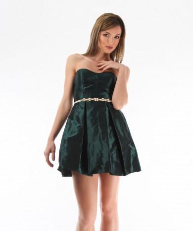 rochie tafta verde