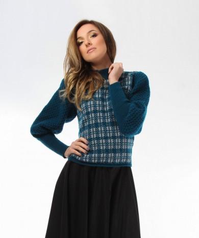 pulover albastru cerneala