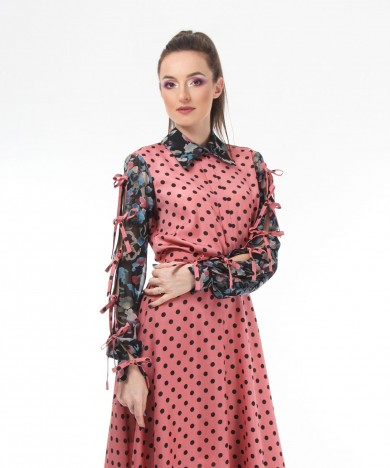 bluza roz mixed prints