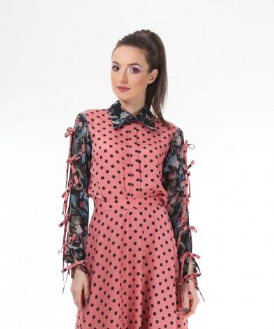fusta pink polka dots