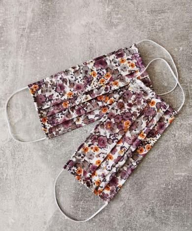 masca textila cu imprimeu floral