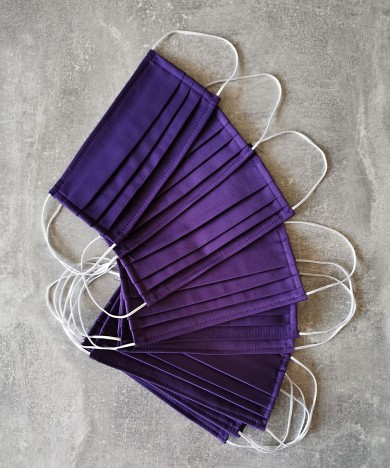 masca textila mov