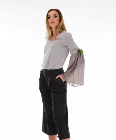 pantaloni din stofa de bumbac