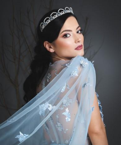 rochie de seara bleu modern princess