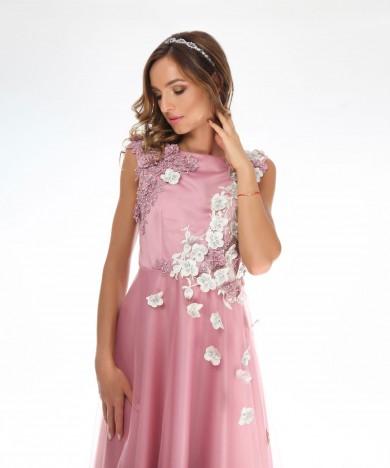 rochie de seara roz orhidee