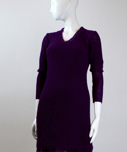 rochie violet tricotata