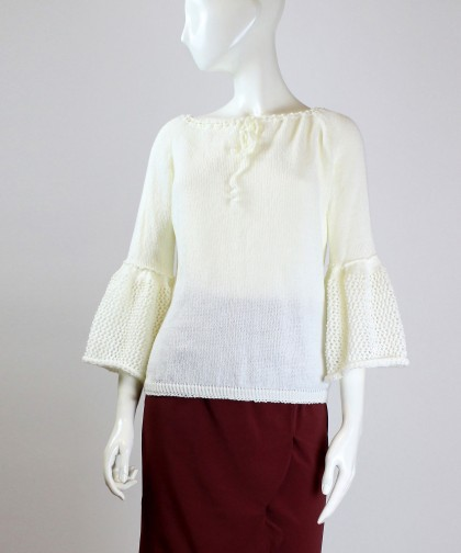 bluza tricotata cu maneca clopot