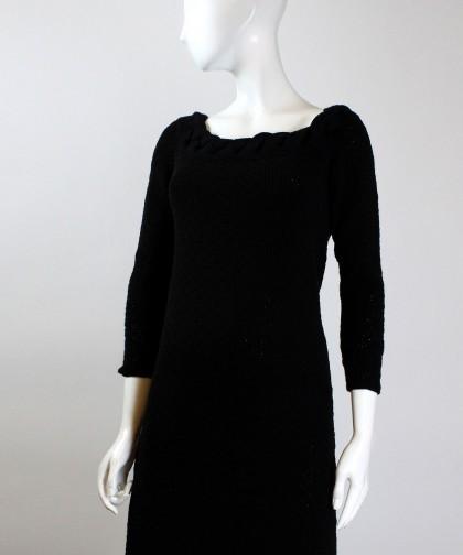 rochie tricotata neagra