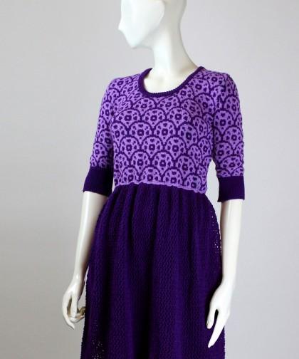 rochie tricotata cu model