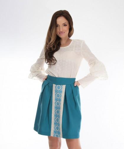 fusta turcoaz cu model traditional