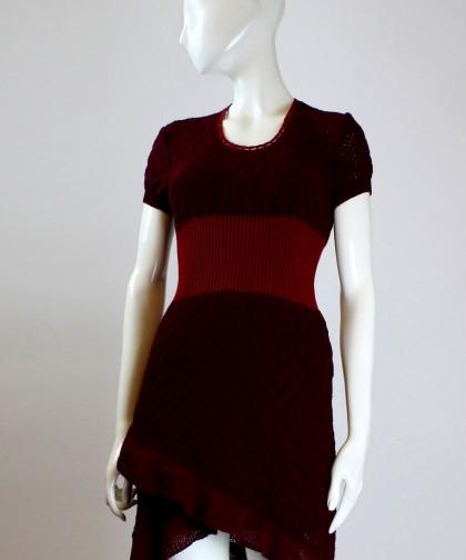 rochie tricotata bordo