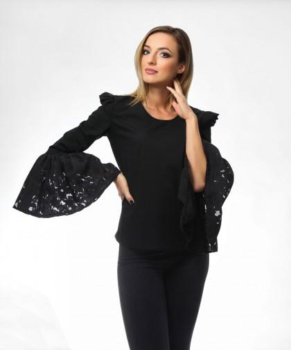 bluza neagra cu maneci ample