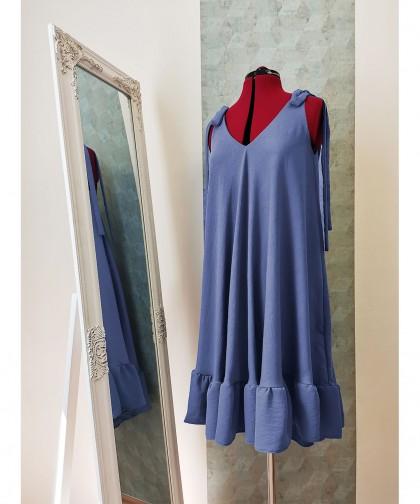 rochie ampla cu bretele funde