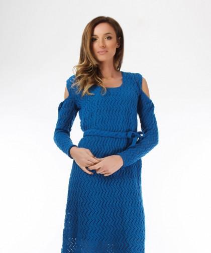 rochie tricotata albastra