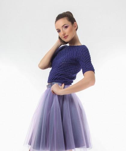 top tricotat indigo